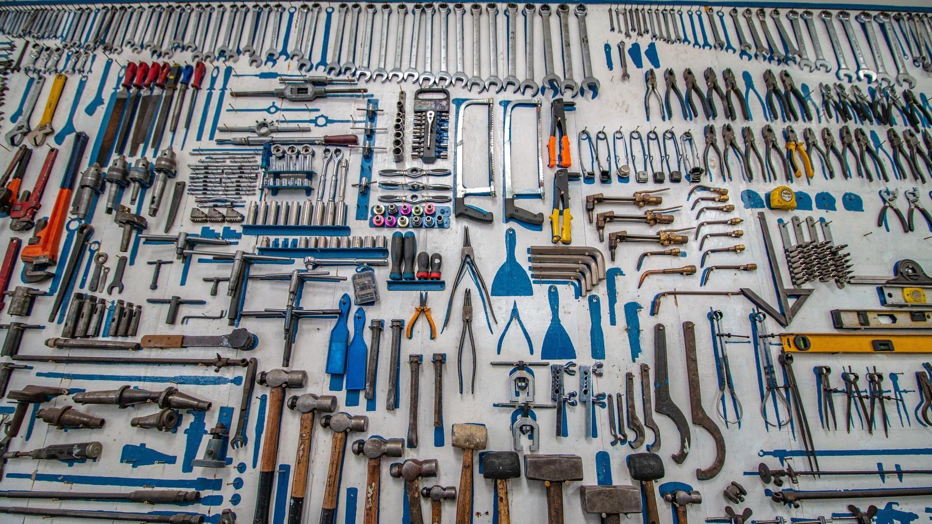 Lots of handheld tools.
