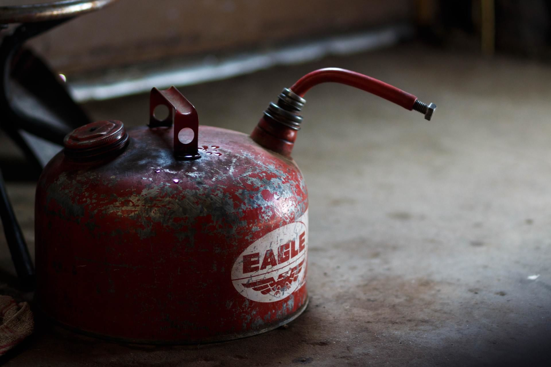 An old gas can